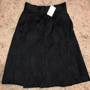 Flare pleated skirt